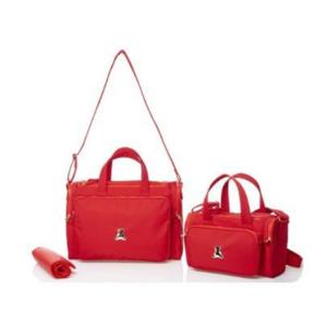 Dupla de bolsas maternidade em sintético vermelha