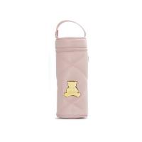 Porta mamadeira em sintético na cor rosa
