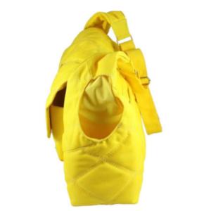 Bolsa maternidade de transpassar em nylon amarela