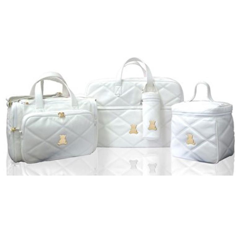 Kit bolsas maternidade em sintético branco