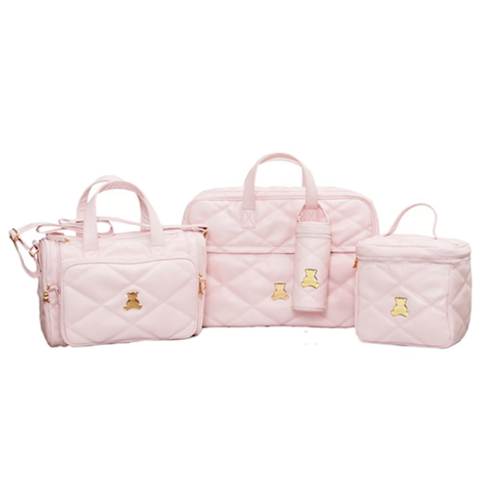 Kit maternidade quadruplo em sintetico rosa