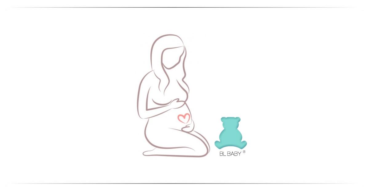 Silhueta de grávida e urso da logomarca