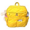 Mochila maternidade em nylon amarela
