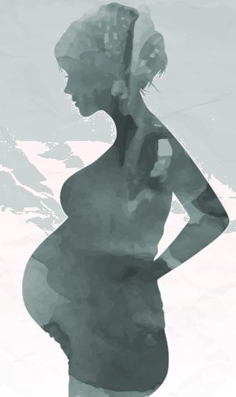 silhueta de gráfica com a mão na cintura