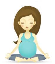 grávida meditando