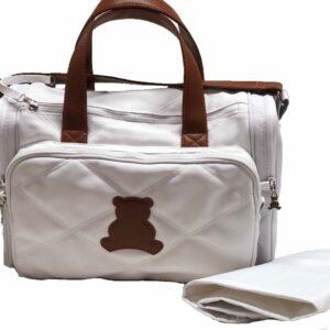 Bolsa Maternidade Média com alça de transapassar em sintético bicolor